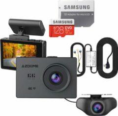 Zwarte AZDome M10 Pro dashcam voor auto - Continue voeding - Rear cam - 128gb