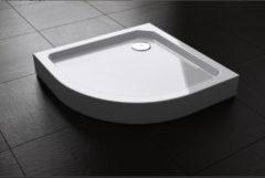 Douche Concurrent Douchebak Best Design Kwartrond 100x100x14cm SMC Glans Wit met Verstelbare Potenset
