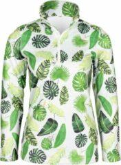 Groene Emski Dames ski pully - pullover met kwart rits, lange mouwen - wintersport kleding