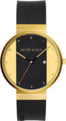 Jacob Jensen 734 horloge heren - zwart - edelstaal doubl�
