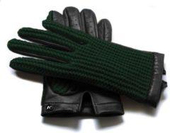 Napogloves NapoCROCHET Echt lederen touchscreen auto handschoenen | Groen | maat L