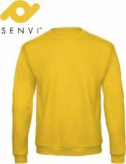 Merkloos / Sans marque Senvi Basic Sweater (Kleur: Geel) - (Maat L)