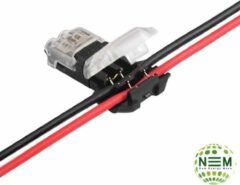 Zwarte New Energy Move Quick auto Lock /I/ 2,5x1mm 18-22 AWG,draadconnector,8gram, 0-36V, 0-10A