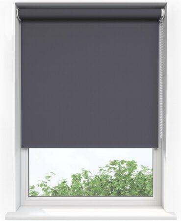 Afbeelding van Grijze Sunsta Rolgordijn Verduisterend Antraciet - 90 x 190 cm - Inkortbaar