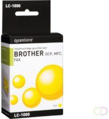 Quantore Inktcartridge - geschikt voor Brother LC-1000 - Geel / Yellow