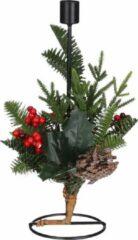 House Of Seasons Kerstkandelaar Patton 30 X 15 Cm Metaal Zwart