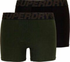 Superdry Sportonderbroek - Maat S - Mannen - kaki/zwart 2-pack