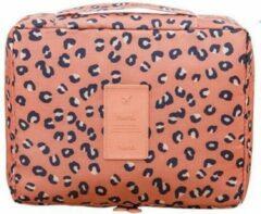 Roze Travel 'Leopard' Toilettas Luipaard | Make Up Organizer/Travel Bag/Reistas | Fashion Favorite