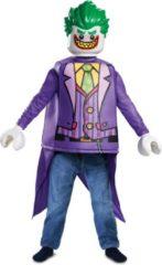 Paarse DISGUISE - Lego Joker outfit voor kinderen - 110/128 (4-6 jaar) - Kinderkostuums
