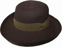 Emthunzini Hats Zonnehoed dames Gigi EBD128 - bruin - 58 cm