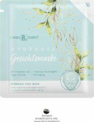 Lichtblauwe CHIARA AMBRA Transparant Hydrogel gezichtsmasker® met hyaluron en algenextract