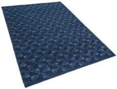 Beliani Vloerkleed marineblauw 160 x 230 cm laagpolig SAVRAN