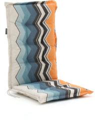Blauwe Madison tuinkussens hoge rug 125x50cm - Laagste prijsgarantie!