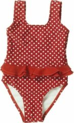 Playshoes badpak rood witte stippen maat 122/128