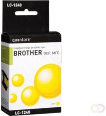 Cyane Quantore Inktcartridge - geschikt voor Brother LC-1240 - Geel / Yellow