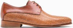 Paulo Bellini Lace Up Shoes Palermo Beige/Cognac.