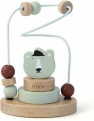 Groene Trixie houten kralenframe | Mr. Polar Bear | Beads Maze | IJsbeer | Speelgoed