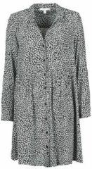 Esprit Edc Women jurk met all over print zwart/wit