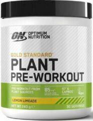Gold Standard Plant Pre-Workout - 240g - Lemon Limeade