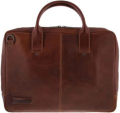 Donkerbruine Plevier Leren Laptoptas Sleeve 15,6 inch 856 Dark Brown
