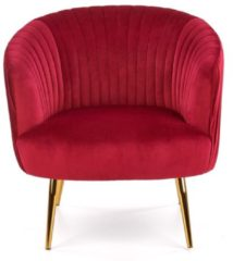 Home Style Fauteuil Crown in rood