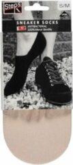 Huidskleurige Steps | 5 Pack | sneaker sokken Dames | sneaker sokken heren | sneaker sokken | Footies | Skin | XXL | Maat 42-45