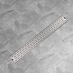 Roestvrijstalen VidaXL Doucheafvoer rechthoekig 930 x 140 mm roestvrij staal