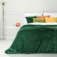 Donkergroene Luxe bed deken Brulo Polyester sprei 170x210 cm Gewicht-250GSM GSM donker groen