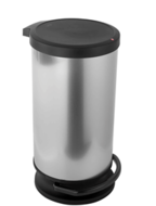 Rotho Paso Pedaalemmer - 30 l - Zilver Metallic