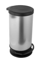 Rotho Paso Pedaalemmer - 30 l - Kunststof - Zilver Metallic