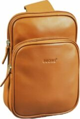 Buono Leather Maat null Heren Crossbodytas Cognac