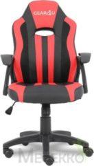 Gear4U Junior Hero gaming stoel - gamestoel voor kinderen / game stoel voor kinderen - rood / zwart