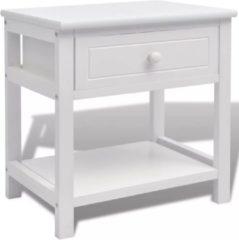 VidaXL Nachtkastje hout wit