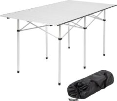 Tectake - Campingtafel - 140 x 70 cm - Grijs