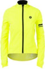 Gele AGU Essential Regenjas Fietsjack Dames - Fluo Yellow - Maat M