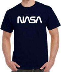 Marineblauwe Fruit of the Loom Nasa T-shirt | Official logo | Navy | Maat Large