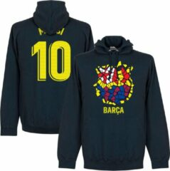 Marineblauwe Retake Barcelona Messi 10 Gaudi Logo Hoodie - Navy - XL