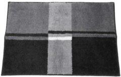 GRUND Badteppich, anthrazit, gestreift, 60 x 90 cm