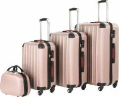 Roze Tectake - Kofferset Pucci 4-delig roségoud - 403409
