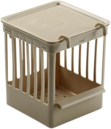 Afbeelding van Fauna Nestkastje Plastic Met Tralies - Vogelbroedbenodigheden - 11.5x11.5x13.5 cm Beige