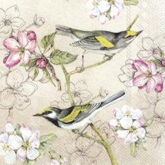 IHR - BIRDS SYMPHONY - papieren servetten - Bloemen - Vogels
