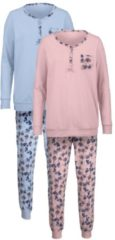 Schlafanzug Harmony puder/bleu