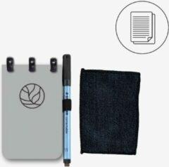 Groene Greenstory GreenBook Pocket - mix lijn & blanco - Grey - A7 - Whiteboard Notebook