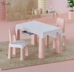 Russle Setje tafel met stoelen Roze Pastel