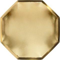 Meri Meri - Borden - Goud - 8 stuks - 26cm