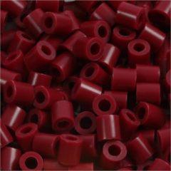 Creotime Strijkkralen, afm 5x5 mm, gatgrootte 2,5 mm, wijnrood (4), medium, 6000stuks