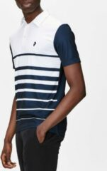 Blauwe Peak Performance Heren Polo Stripe Blue/White XXL