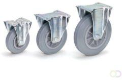 Fetra Bokwielen 200 x 50 mm, Massief streeploos rubber wiel