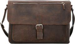 Salisbury Aktentasche Leder 40 cm Laptopfach Leonhard Heyden braun