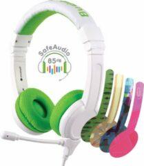 BuddyPhones School+ - koptelefoon, headset met staafmicro, volumebegrenzing, groen